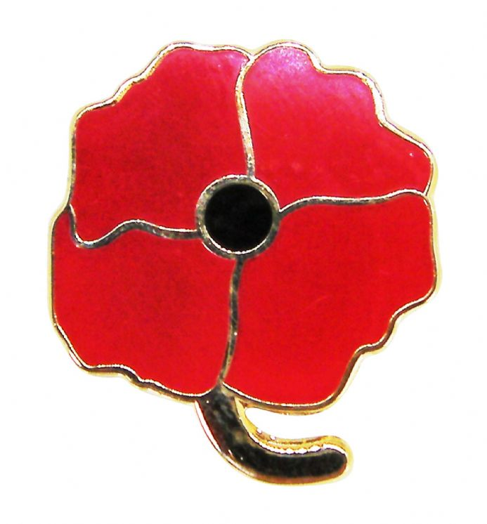 Four Petal Poppy Lapel Brouch Badge